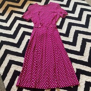 Vintage polka dot pleated skirt set cottage core